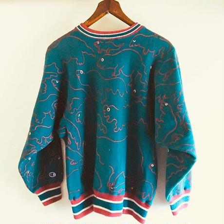【on champion】OMA overdrawing sweatshirt 70 Ouija