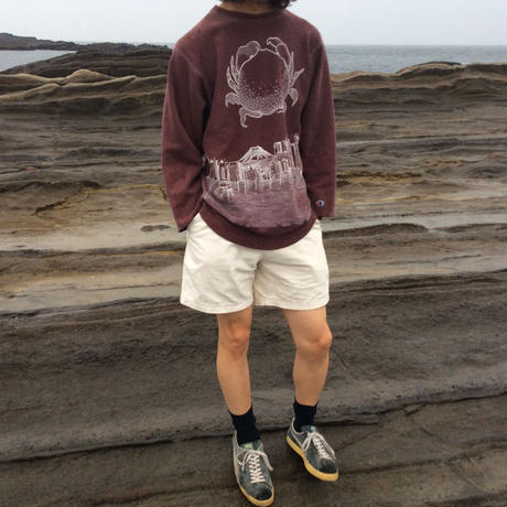 【on champion】sweatshirt 67 2top,satisfaction,mutation length     蟹と自然災害、乾電池と原始の海