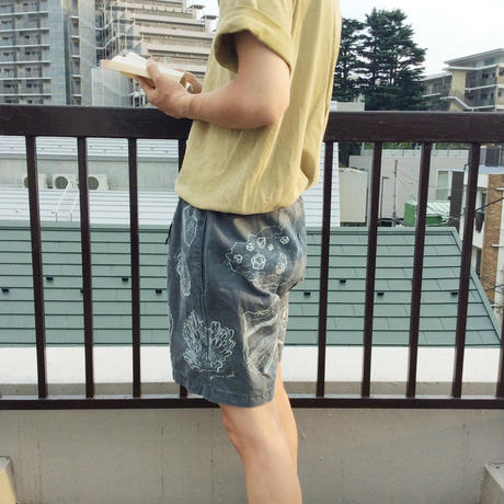【on GRAMICCI】 OMA overdrawing shorts 11  stone|石