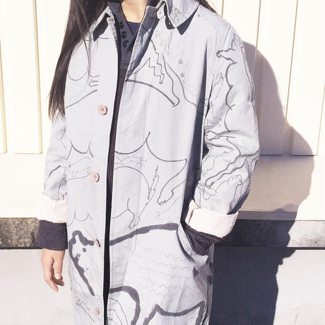 OMA overdrawing coat 03  [animal assort] |オーバードローイングコート 03 「動物アソート」