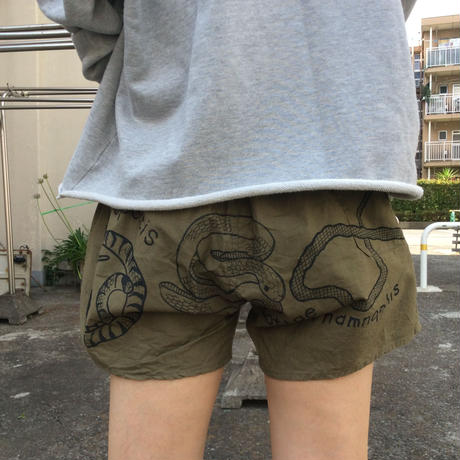 【on military】OMA overdrawing ショートパンツ|shorts 02   ヘビ|snake