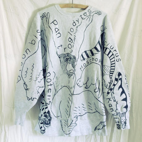 【on champion】OMA overdrawing sweatshirt 29 〈satisfaction〉猿のいる動物アソート|animal assort with monkey
