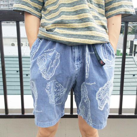 【on GRAMICCl】OMA overdrawing shorts 15  stone|石