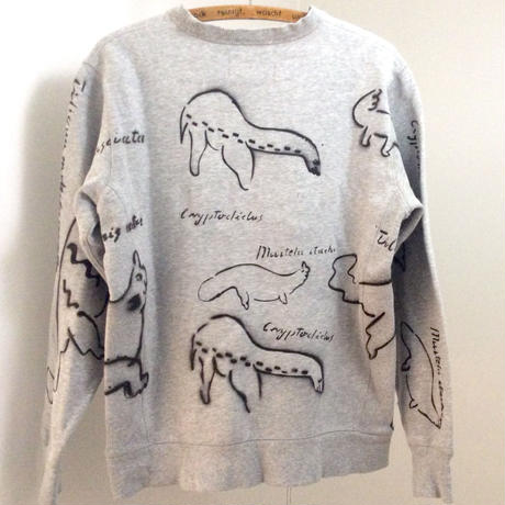 【on champion】OMA overdrawing sweatshirt 55 legal copy,stencil Ver, [animal assort]|動物アソート