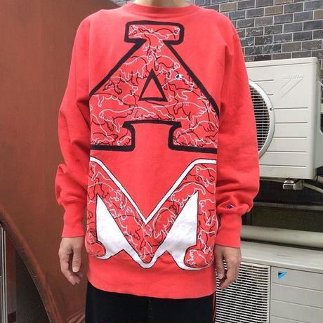 【on champion】OMA overdrawing sweatshirt 69 Ouija エーエム|Ouija AM