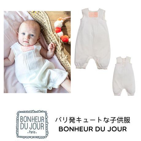 BONHEUR DU JOUR パリの子供服 ベビーロンパース(17010)