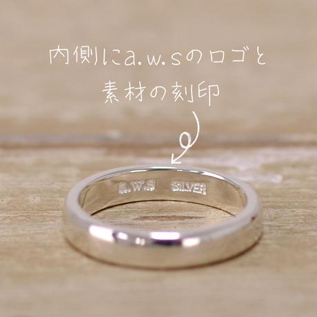 レギュラーリング_1本/槌目(つちめ)タイプ・内側文字入り(10文字まで文字入れ無料)