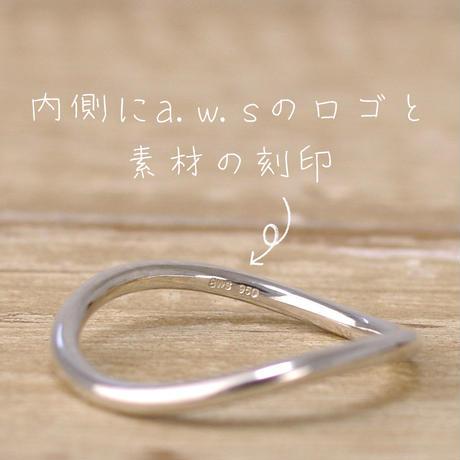 ウエーブリング_1本/槌目(つちめ)タイプ