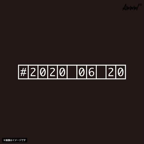 Awww!1st刺繍ロゴTシャツ設立記念日ナンバリング入り【黒】