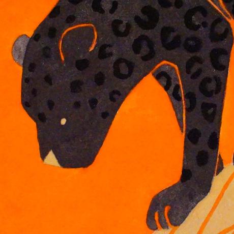 【日本画】6/19 Black leopardクロヒョウ『366DAYS』