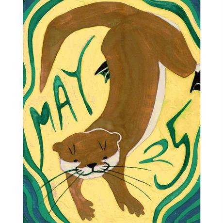 【日本画】5/25 Otterカワウソ『366DAYS』