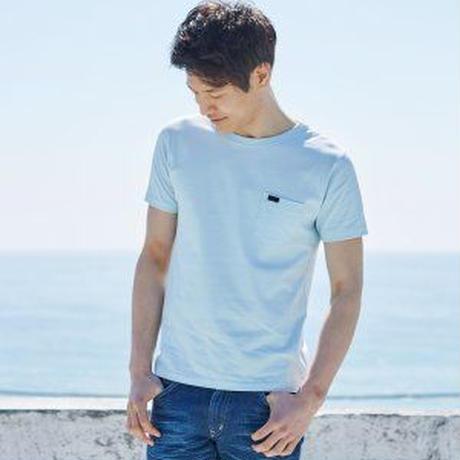【Lee】PACK POCKET T(Aqua Blue)/パックポケットティーシャツ(アクアブルー)
