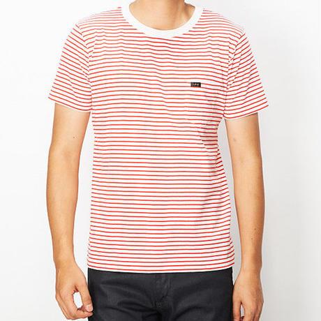 【Lee】PACK POCKET T(White×Red)/パックポケットティーシャツ(ホワイト×レッド)