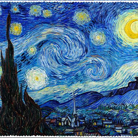 ゴッホ:星月夜(スターリーナイト)ネックレス (0078)