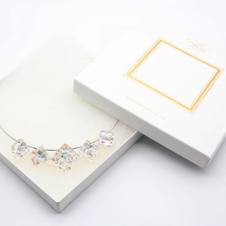 ワイヤーネックレス 5連 ホワイト (0001)