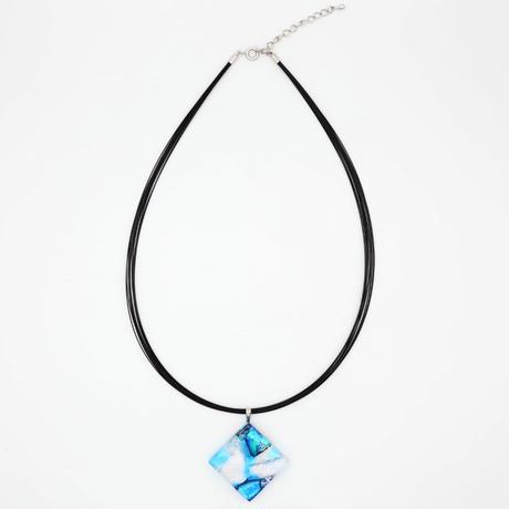 透け感ネックレス ブルー (0014)