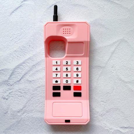 レトロな携帯電話のiPhoneケース(ピンク)