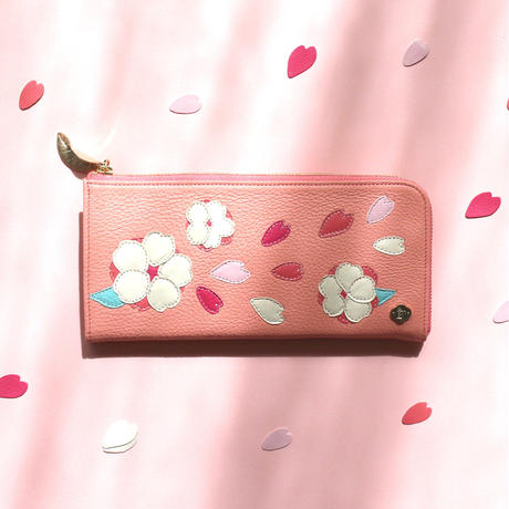 CHERRY BLOSSOMS / FASTENER  LONG  WALLET