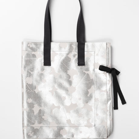 LUCE  /  ribbon tote bag  / BLACK
