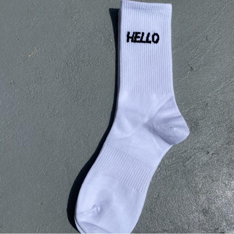ソックス「HELLO」#1018