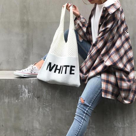 ニットバッグ「白と黒」