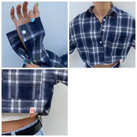 «5/8以降発送»ショートチェックシャツ「NA」#8059