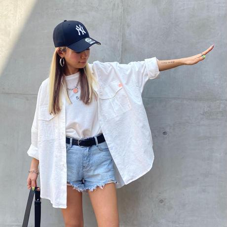 SimpleコットンBIGシャツ#8007