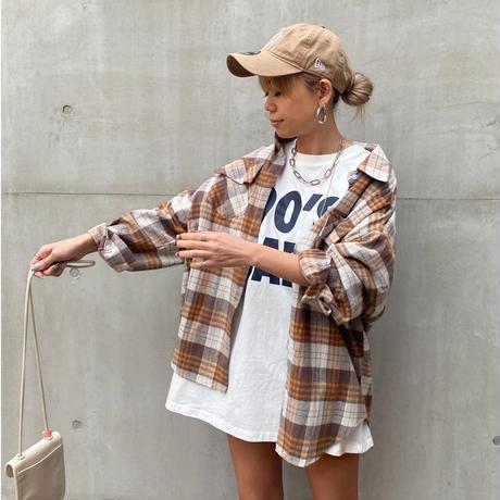 BIGチェックシャツ「T.W」#68001