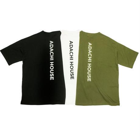 BACK BONE PRINT WIDE T-shirts