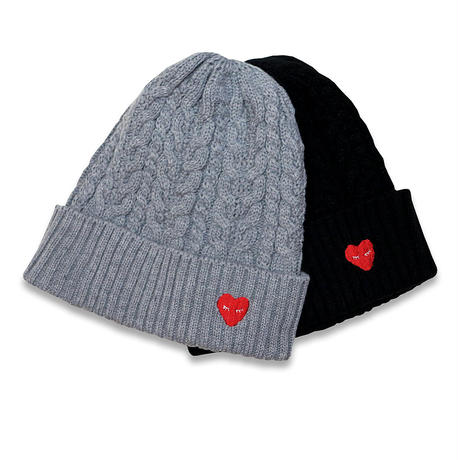 AYH HEART CABLE KNIT CAP