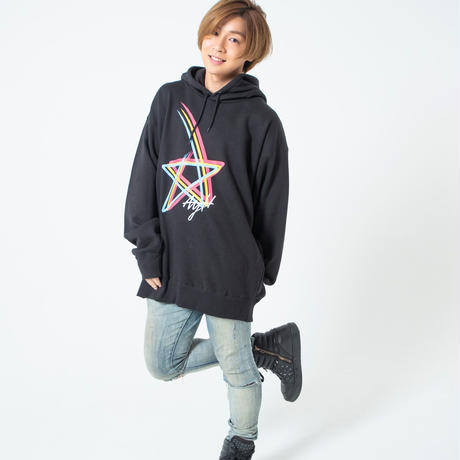 AYH RAINBOW STAR WIDE HOODY SWEAT