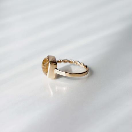 Avalon shell × Rutilated quartz  Ring