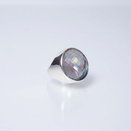 Labradorite × Quartz  Ring