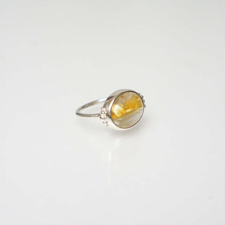 Gold rutile quartz  Ring