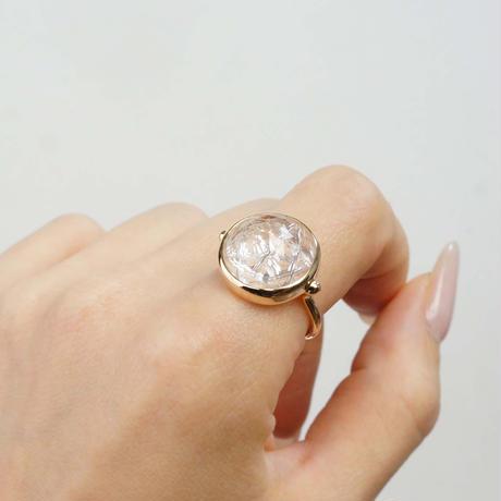 Carving white topaz  Ring