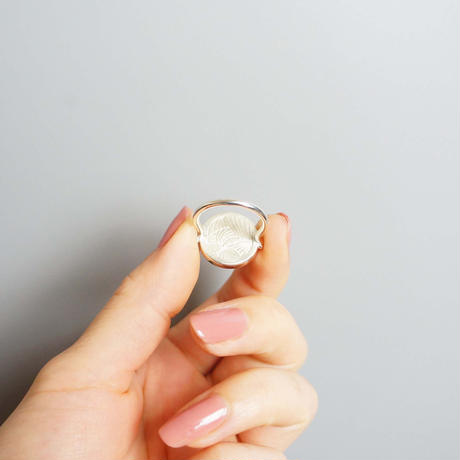 golden shell×Quartz  Ring