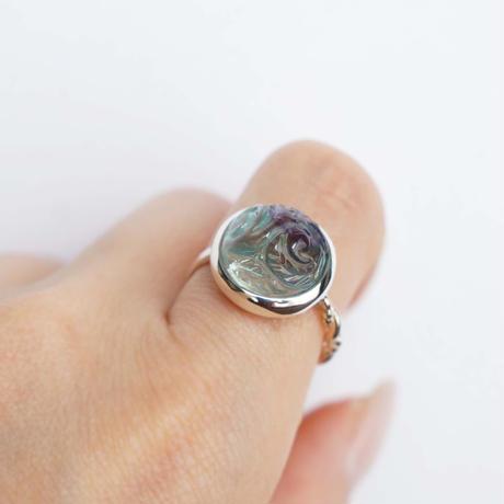 Carving  Fluorite  Ring
