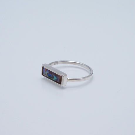 Avalon shell×Pink amethyst  Ring
