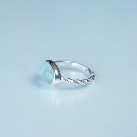 Milky Aquamarine Ring