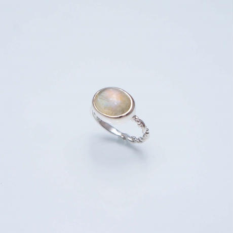 Yellow moonstone Ring