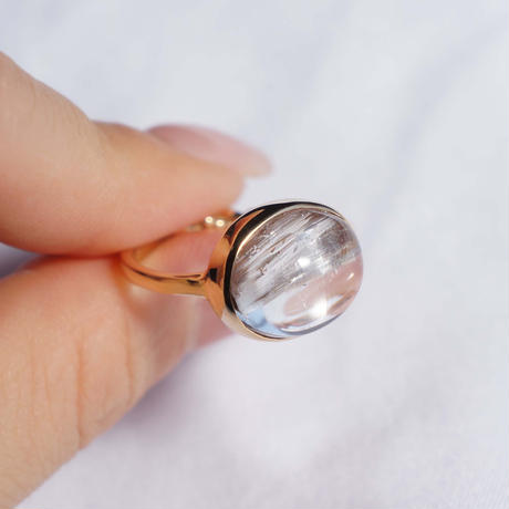 Platina Rutile Quartz  Ring