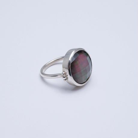 Black shell×Quartz  Ring