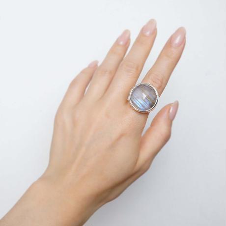 Labradorite × Quartz  Ring
