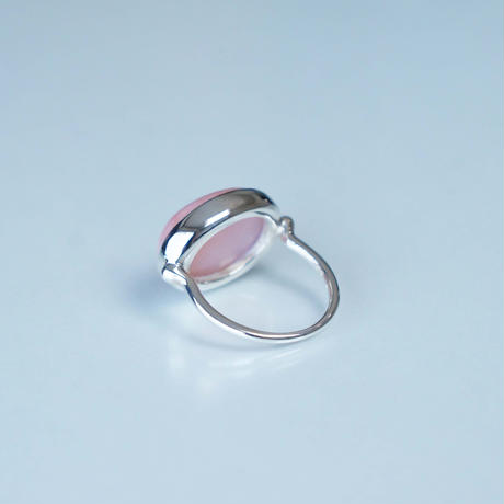 Pink common Opal  Ring