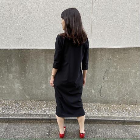 【受注生産】【ブラック】エルテワンピース(前後2WAY・ストレッチ・自宅で洗濯OK・ポケット付)