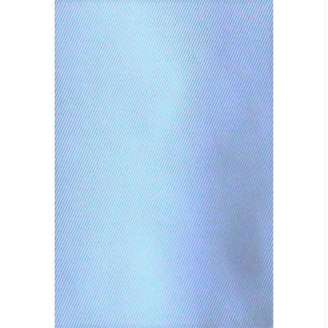 【ホワイト×水色】ロールカラー ストレッチ ワンピース