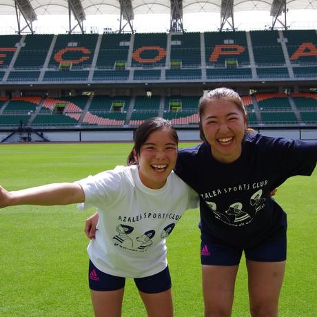 静岡県出身イラストレーター千田花さんとアザレアのコラボTシャツ(紺)