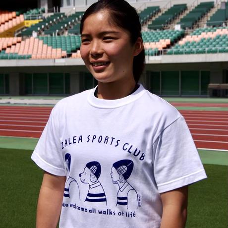 静岡県出身イラストレーター千田花さんとアザレアのコラボTシャツ(白)