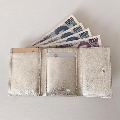 淡水パールの三つ折り財布 シャンパンゴールド