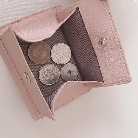 淡水パールの三つ折り財布 ベージュ